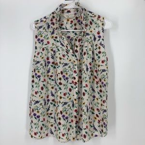 Caffe Marraheck Off white floral tank top